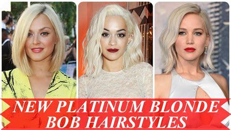 blonde bob youtube new platinum blonde bob hairstyles youtube