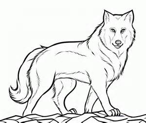 Free Printable Wolf Coloring Pages For Kids sketch template