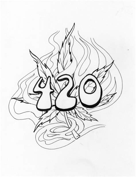 tattoo pictures to color cool weed drawings google search kool drawings
