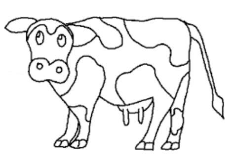sketsa gambar sapi untuk belajar mewarnai anak tk