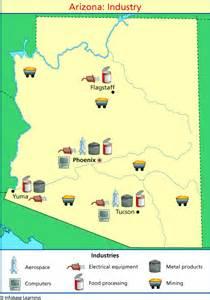 arizona agriculture map arizona industry map