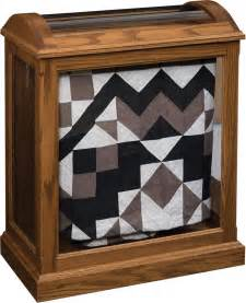 Curio Cabinet For Quilts Amish Quilt Curio With Enclosed Base