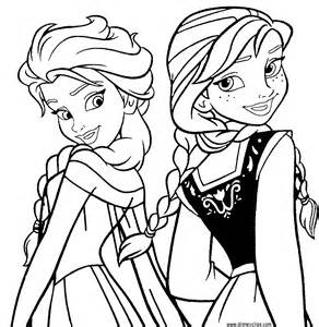 Coloring Sheets To Print Out Free Frozen  sketch template