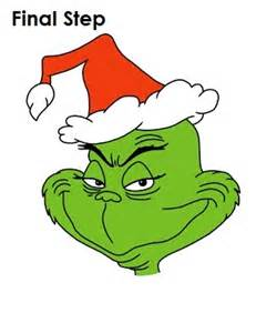 Draw the grinch final step