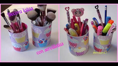 decorar latas papel decora latas con servilletas youtube