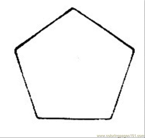 Pentagon 1 Coloring Page Free Geometry Coloring Pages Pentagon Coloring Page