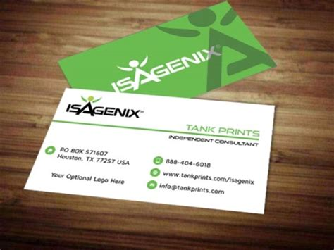 Isagenix Business Card Template by Isagenix Business Card Design 5