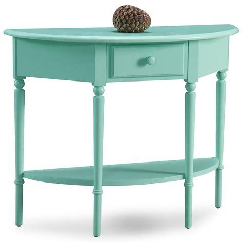 Leick Kiwi Green Coastal Demilune Hall Stand Sofa Table W Coastal Sofa Table