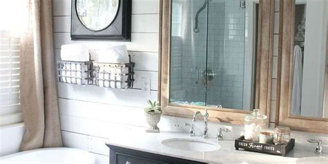 country living bathroom ideas farmhouse bathroom makeover rustic bathroom remodel