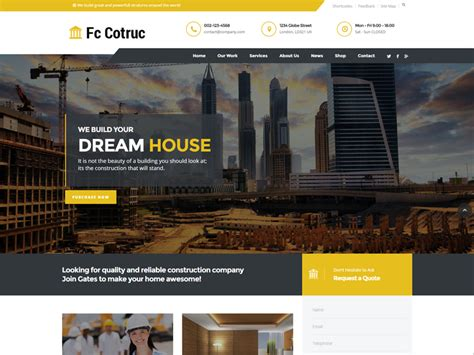 Fc Cotruc Free Construction Company Website Template Freemium Download Construction Company Template Free