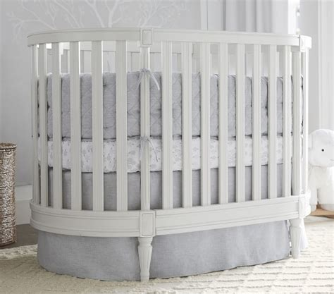Oval Cribs For Babies by Belgian Flax Linen Oval Baby Bedding Pottery Barn