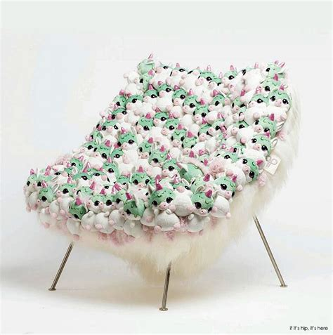 Stuffed Chairs Furniture by Vintage Chairs Embellished With Stuffed Animals The Ap