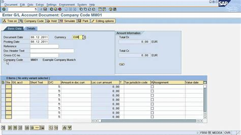sap tutorial sd module fs2 sap tutorial how to post a document in sap