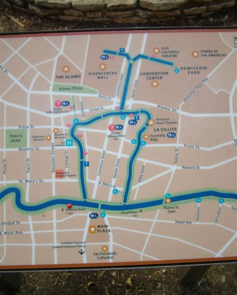 riverwalk map san antonio conservation vince michael