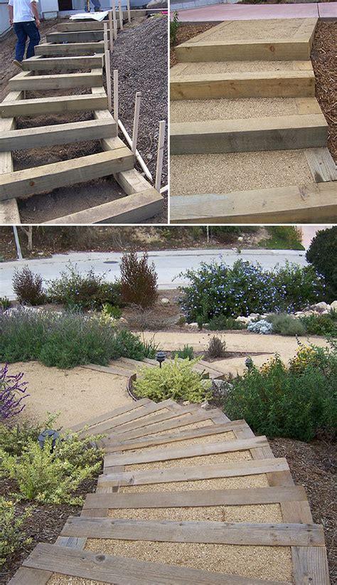 step  step diy garden steps  outdoor stairs