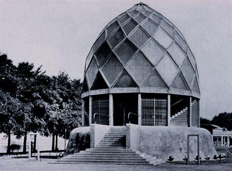 pavillon glas bruno taut glass pavilion nacht geist kreis
