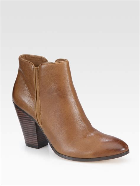 dolce vita ankle boots dolce vita halle leather ankle boots in brown lyst