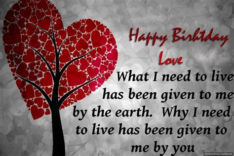 Birthday For Lover Quotes Happy Birthday Love Quotes Wallpaper New Hd Wallpapers