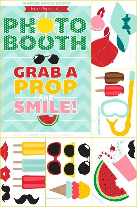 printable photo booth props pool party summer photo booth props free printables summer photos