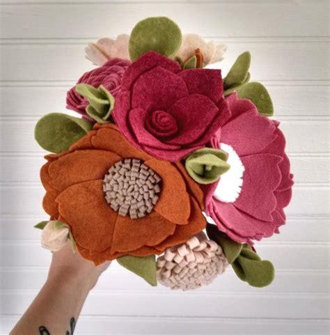 Flower Arrangements For Bridesmaids by Wedding Bouquet Wool Felt Flower Bouquet Flower