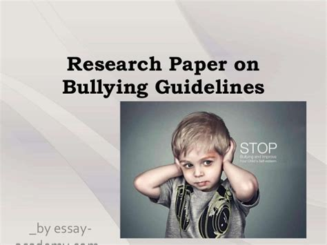 thesis about bullying slideshare research paper on bullying guidelines