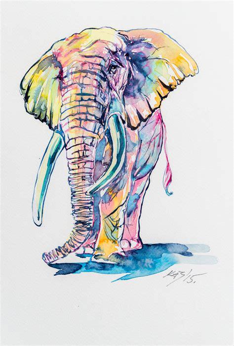 Colorful Elephant Wallpaper