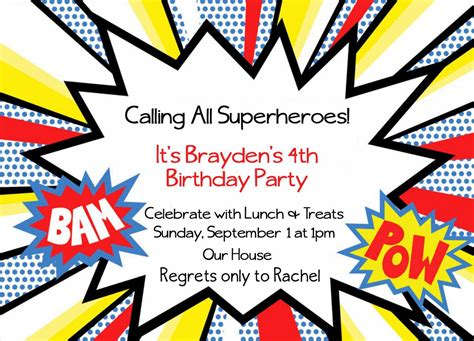 free printable superhero birthday invitations not quite