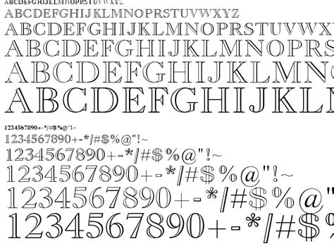 typography outline fonts century oldstyle tomlloadd