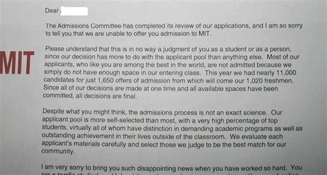 Rejection Letter Mit The 10 Hardest Schools To Get Into Applykit Medium