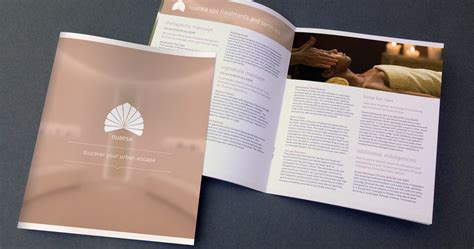 spa brochure brochure graphic design for luxury spa aviate creative