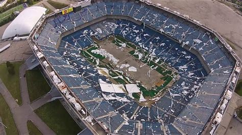 Pontiac Silverdome Today Pontiac Silverdome Drone