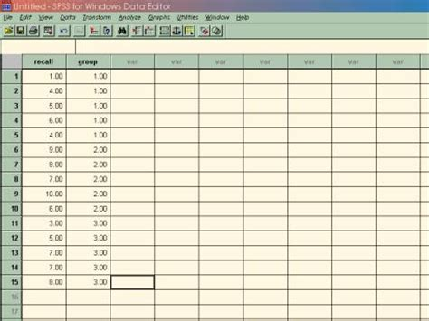 spss tutorial input data spss tutorial 2 psych 218