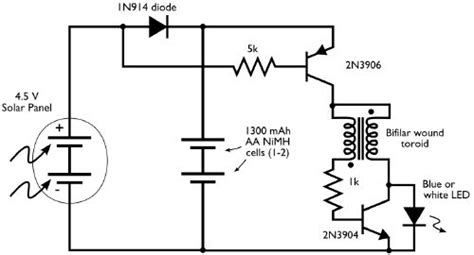 solar led light circuit diagram solar powered light circuit electronic projects