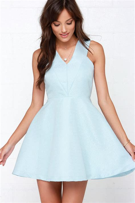 Light Blue Skater Dress by Light Blue Dress Skater Dress Fit And Flare Dress 89 00
