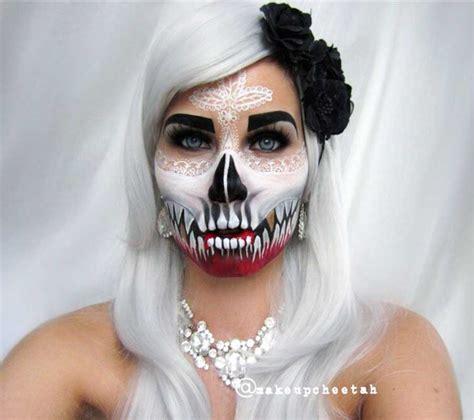 Da Make Up by Make Up Teschio Per 60 Terrificanti Idee E Foto