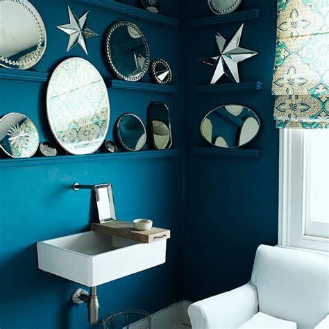 blue bathroom mirror blue bathroom with mirror display contemporary bathroom