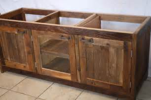 your custom made rustic barn wood vanity cabinet