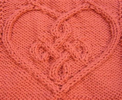 knitting pattern with heart motif celtic heart 3 10 by devorgilla craftsy