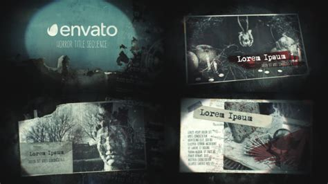 templates blogger horror horror title sequence grunge after effects templates