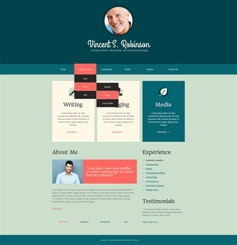 Drupal Different Templates For Different Pages | cyan personal page drupal template 43281