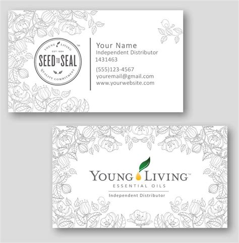 25 Best Ideas About Young Living Business On Pinterest Aceites Para Estar Joven Y Aromaterapia Living Business Card Template