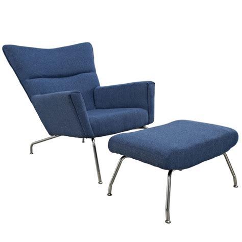 hans wegner wing chair ottoman lounge chair modern  designs