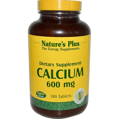 k supplement 600 mg nature s plus calcium 600 mg 180 tablets iherb