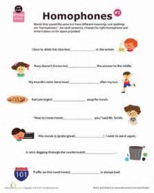 homophone definition worksheet education com