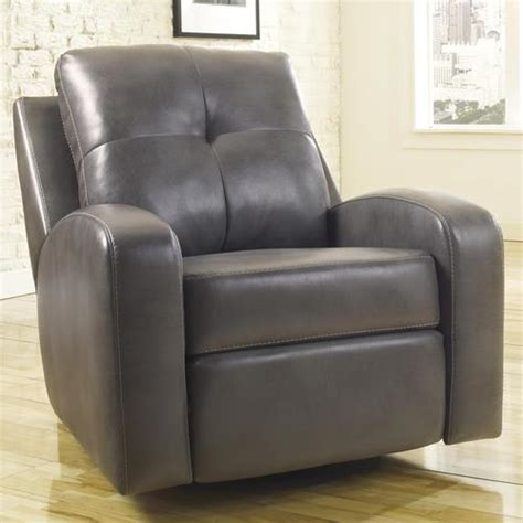 contemporary glider recliner signature design by ashley mannix durablend gray