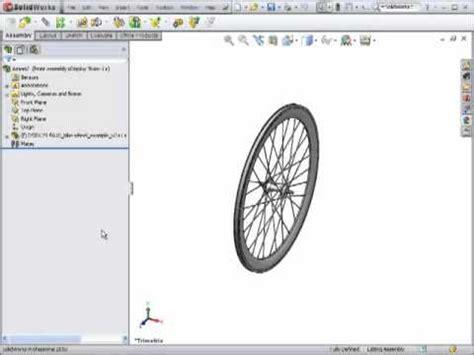 solidworks tutorial bike dsid129 fa10 bicycle wheel solidworks tutorial part 3