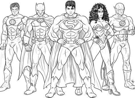 Justice League Coloring Pages To Print the justice league of america by kaufee on deviantart