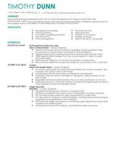 retail manager cv template uk retail cv exles cv templates livecareer