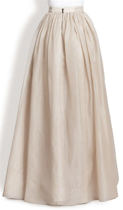 ivory white chiffon maxi skirt elizabeth s custom skirts