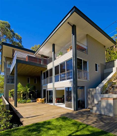 bay house design on australia shoreline modern house designs